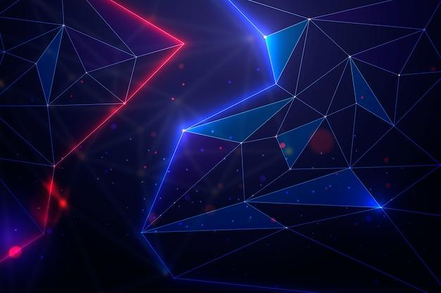 Fundo de partículas abstratas tecnologia realista Vetor grátis