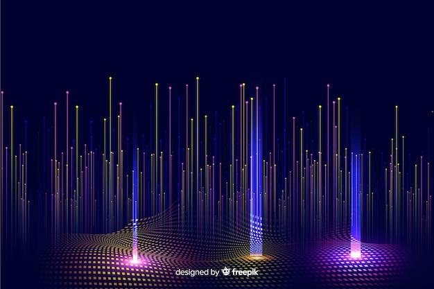Fundo de partículas caindo gradiente tecnológico Vetor grátis