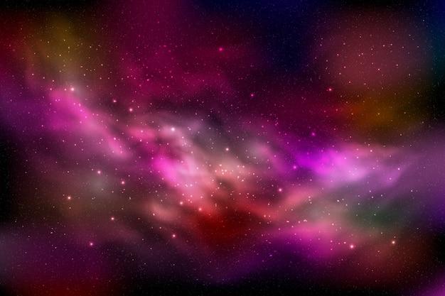 Fundo de partículas da galáxia Vetor grátis