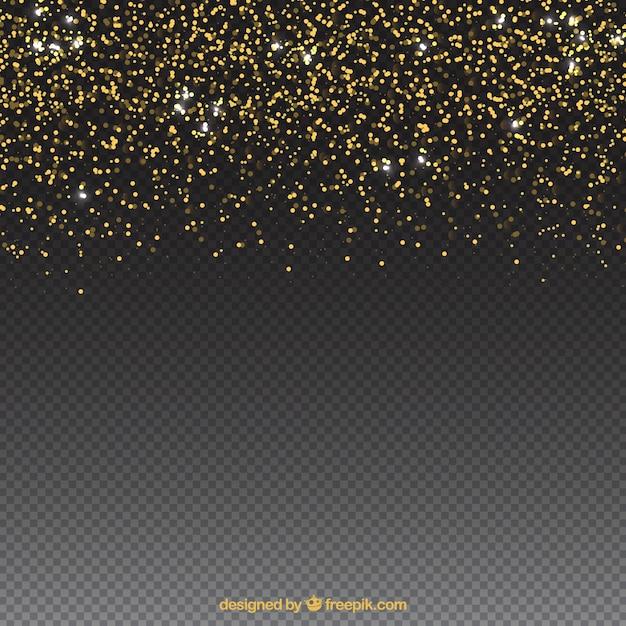 Fundo de partículas de brilho com espaço no fundo Vetor Premium