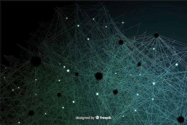 Fundo de partículas de tecnologia abstrata Vetor grátis