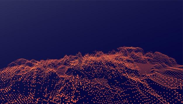 Fundo de partículas ditial em estilo brilhante Vetor grátis