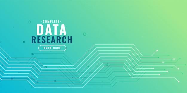 Fundo de pesquisa de dados com diagrama de circuito Vetor grátis