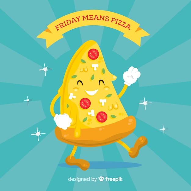 Fundo de pizza Vetor grátis