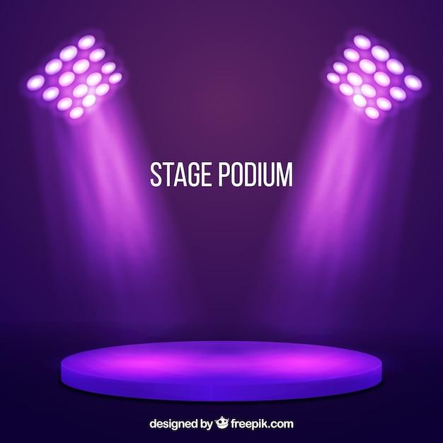 Fundo de pódio de palco com iluminação Vetor grátis