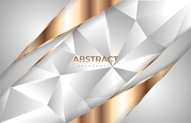 Fundo de poliéster de luxo com glitter dourado Vetor Premium