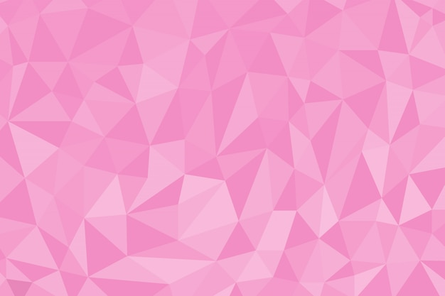 Fundo de polígono abstrato cor-de-rosa Vetor Premium