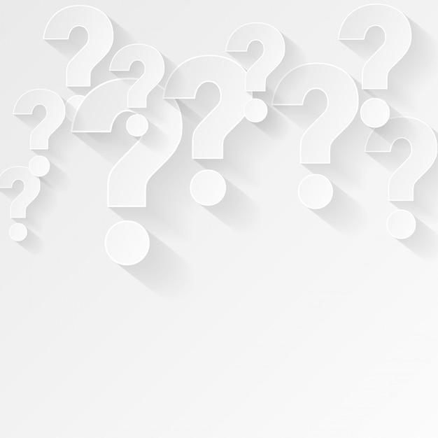Fundo de ponto de interrogação branco em estilo minimalista Vetor grátis