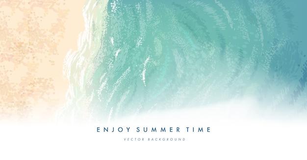 Fundo de praia verão Vetor Premium
