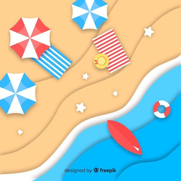 Fundo de praia Vetor grátis