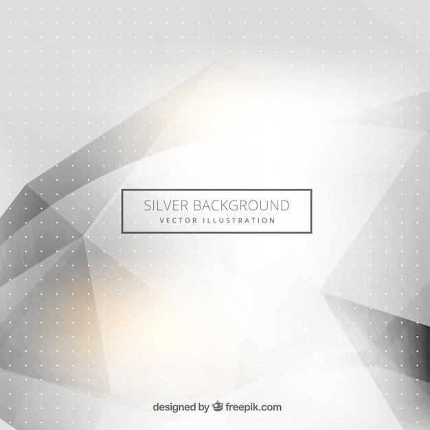 Fundo de prata abstrato Vetor Premium