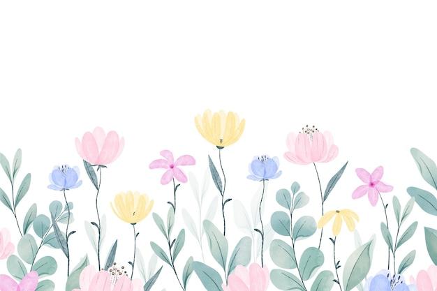 Fundo de primavera pintado à mão Vetor grátis