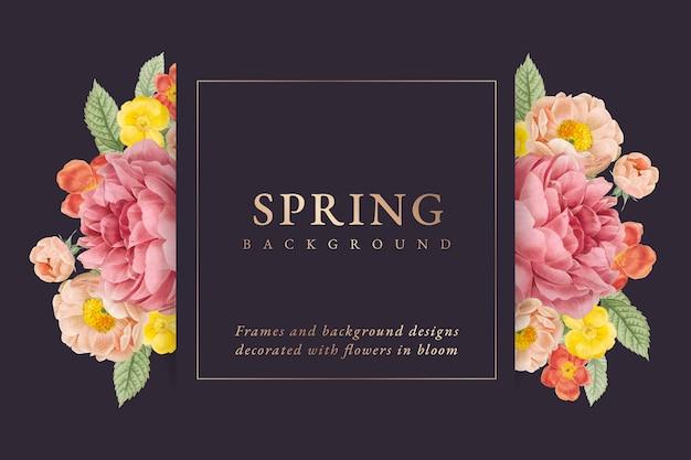 Fundo de primavera Vetor grátis