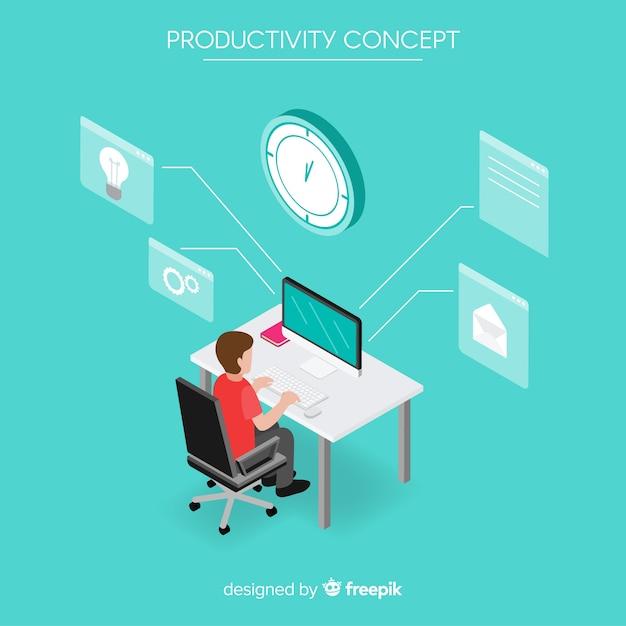 Fundo de produtividade Vetor grátis