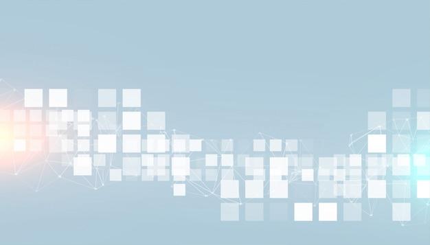 Fundo de quadrados modernos de estilo de negócios digitais Vetor grátis
