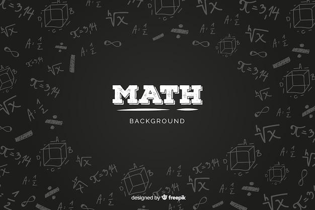 Fundo de quadro de matemática realista Vetor grátis