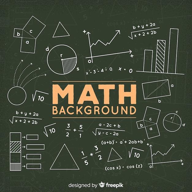 Fundo de quadro de matemática Vetor grátis