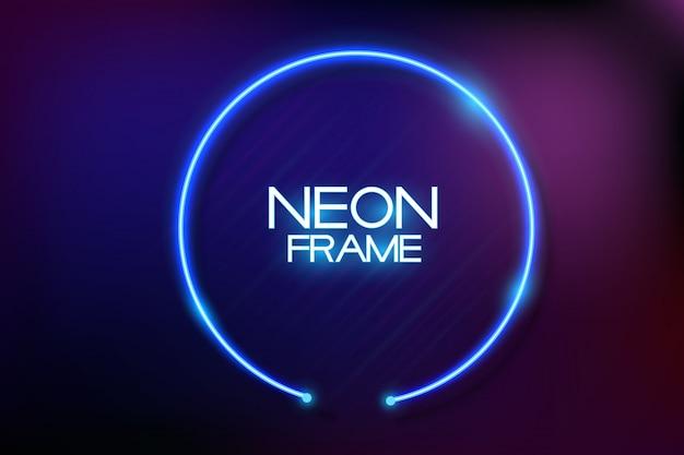 Fundo de quadro de néon Vetor Premium