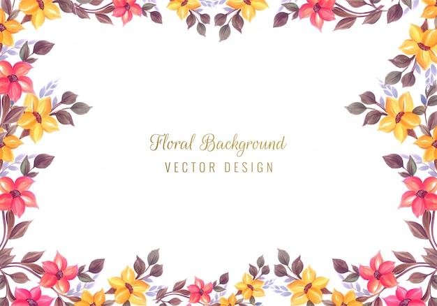 Fundo de quadro floral colorido decorativo de casamento Vetor grátis