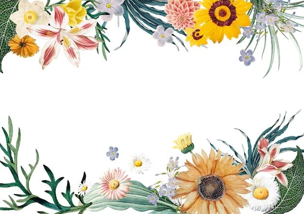 Fundo de quadro floral Vetor grátis