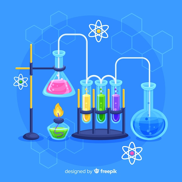 Fundo de química Vetor grátis