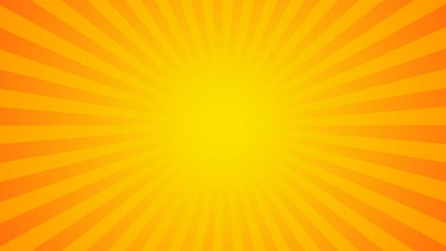 Fundo de raios laranja brilhante Vetor Premium