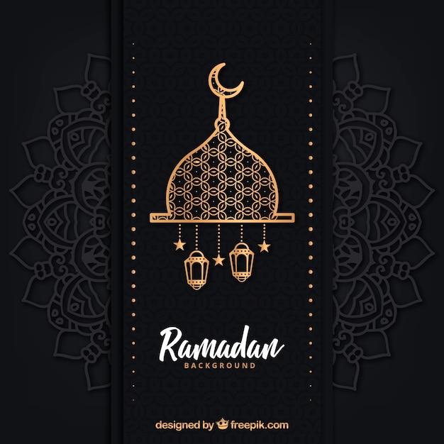Fundo de ramadã com lâmpadas diferentes Vetor grátis