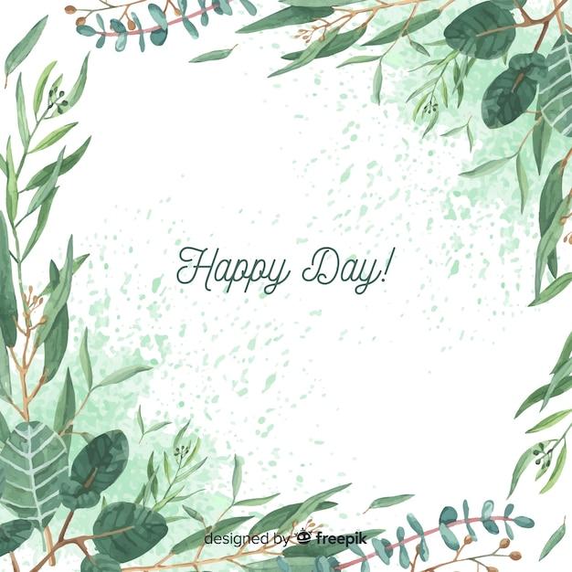 Fundo de ramos de eucalipto de mão desenhada Vetor grátis
