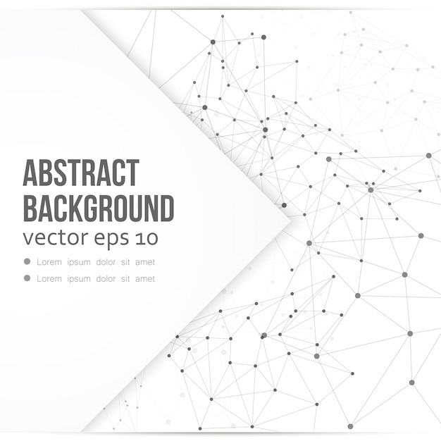 Fundo de rede vetorial abstrato polígono Vetor grátis