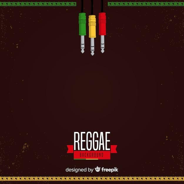 Fundo de reggae de plugues Vetor grátis