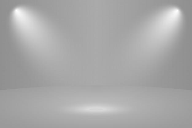 Fundo de sala de estúdio redondo branco vazio Vetor Premium