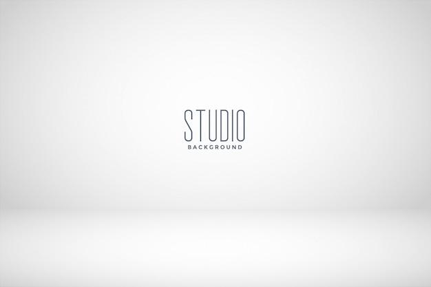 Fundo de sala vazia de estúdio branco Vetor grátis