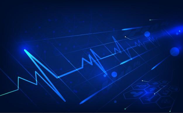 Fundo de saúde médico Vetor Premium