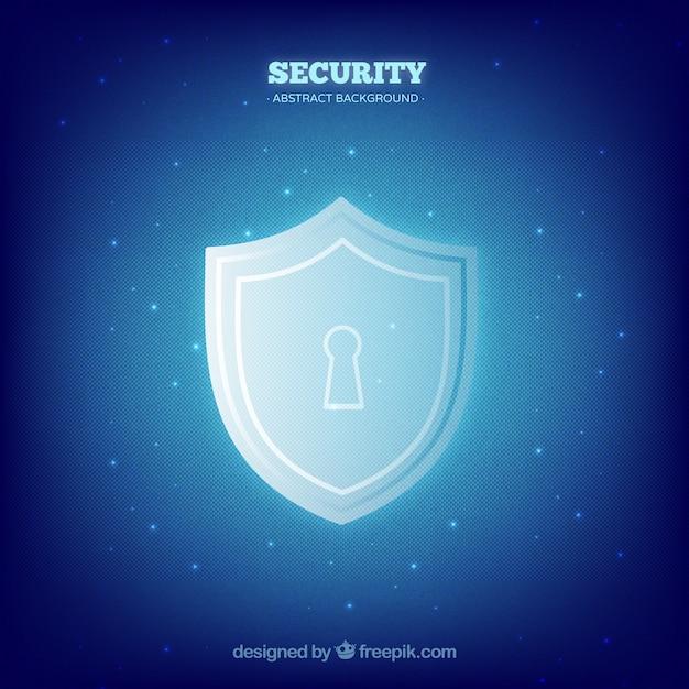 Fundo de segurança azul com trava Vetor grátis