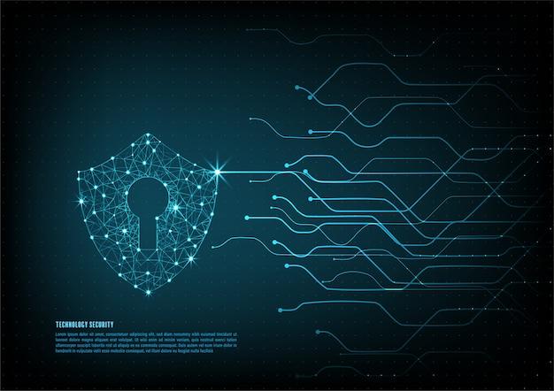 Fundo de segurança de tecnologia Vetor Premium