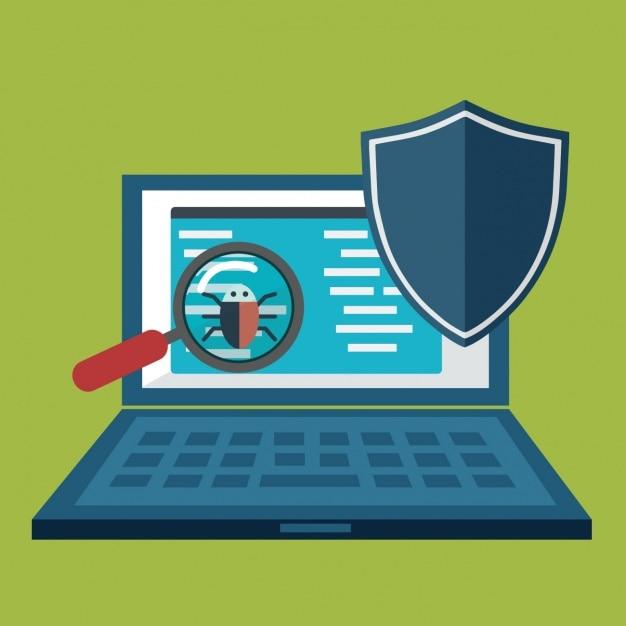 fundo de segurança Internet Vetor grátis