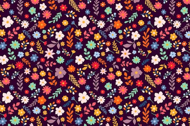 Fundo de servir floral colorido bonito servindo Vetor grátis