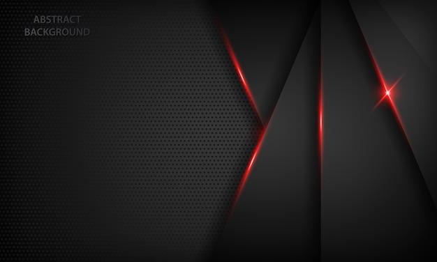 Fundo de sobreposição abstrato preto. textura com efeito metálico vermelho. Vetor Premium