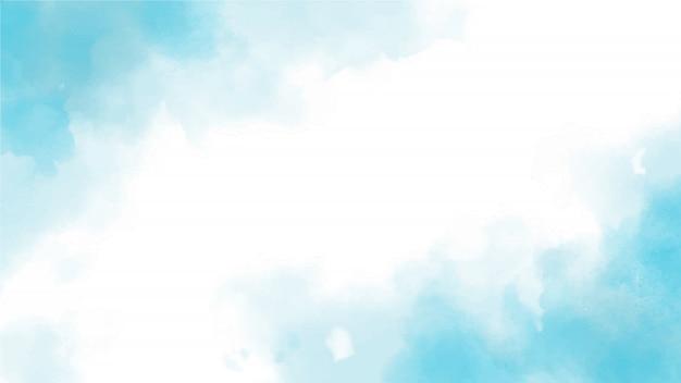 Fundo de tamanho de tela de página web azul aquarela respingo Vetor Premium