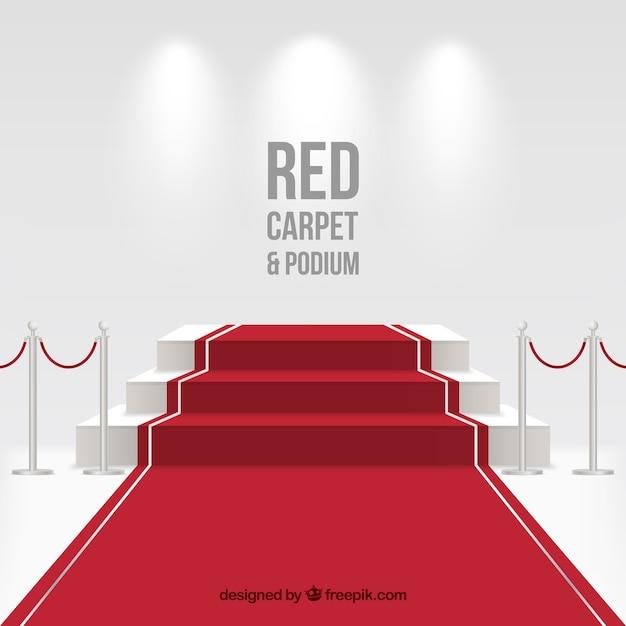 Fundo de tapete vermelho em estilo realista Vetor grátis
