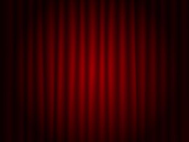 Fundo de teatro vermelho drape Vetor Premium