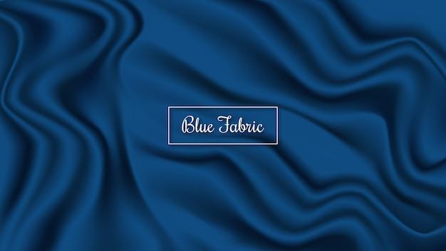 Fundo de tecido azul Vetor Premium