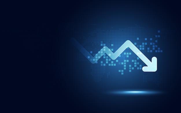 Fundo de tecnologia abstrata de transformação digital Vetor Premium