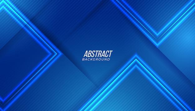 Fundo de tecnologia abstrato azul Vetor Premium