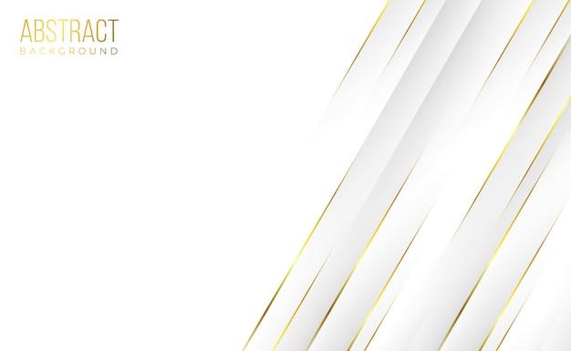 Fundo de tecnologia abstrato dourado branco limpo profissional moderno Vetor Premium