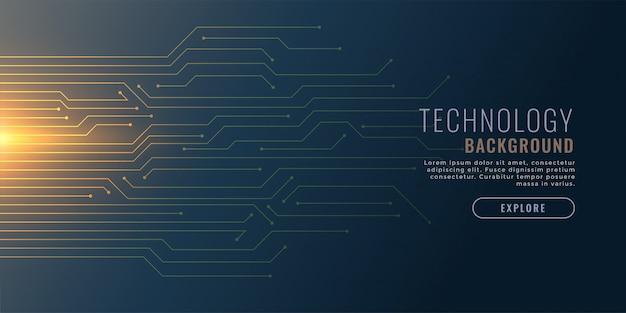 Fundo de tecnologia com diagrama de circuito Vetor grátis