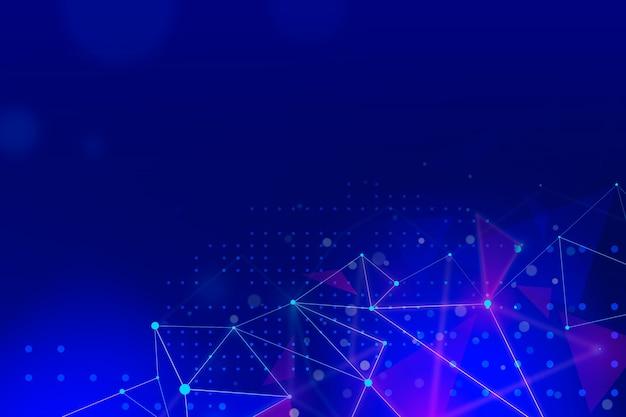 Fundo de tecnologia com linhas de conexão Vetor grátis