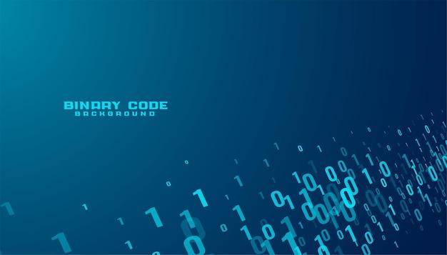 Fundo de tecnologia de fluxo de dados de números de código binário Vetor grátis