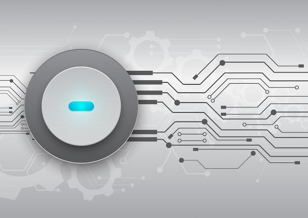 Fundo de tecnologia de placa de circuito Vetor Premium