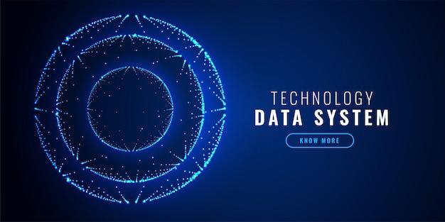Fundo de tecnologia de pontos de círculo futurista Vetor grátis